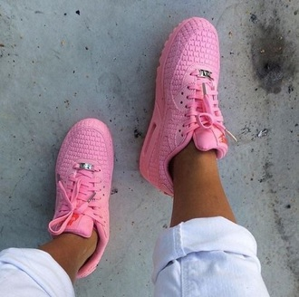 shoes pink sneakers nike nike air max 90 nike shoes