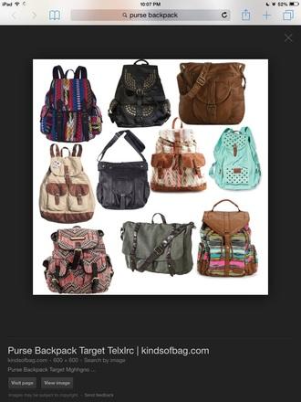 bag backpack brown bag