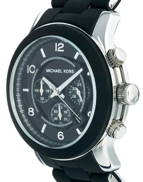 Michael Kors | Michael Kors – MK8107 Runway – Schwarze Chronograph-Armbanduhr bei ASOS