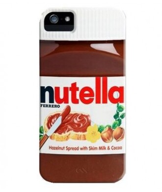 phone cover iphone case nutella cool food teenagers fashion style trendy