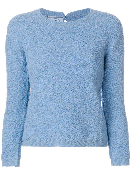 Prada sweater women cotton blue