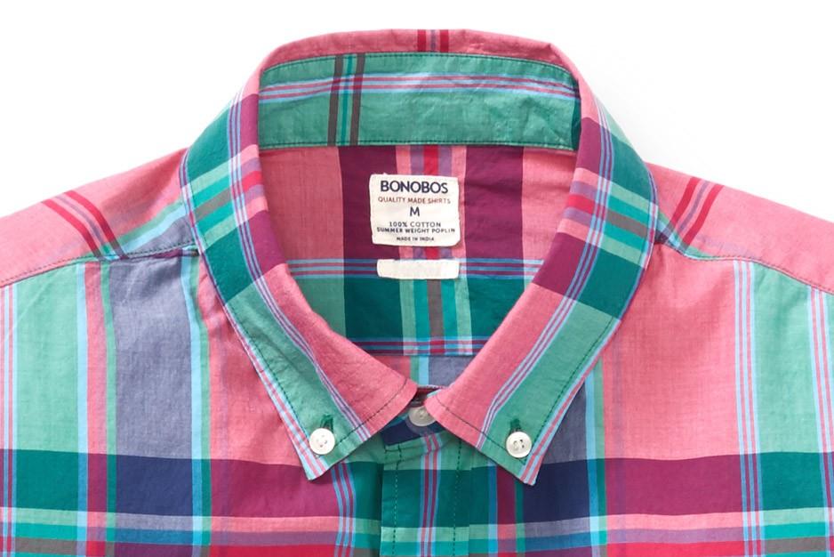 Summer Weight Shirt - Red & Green Plaid