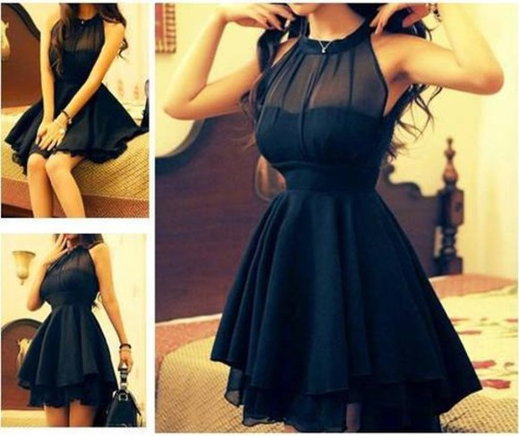 dress black ruffles sheer little black dress pretty party dress black mini dress girl little black dress cute dress short dress clothes black littleblackdress blackdress mini dress lace pinterest pinterest