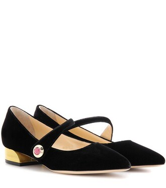 embellished pumps velvet black shoes