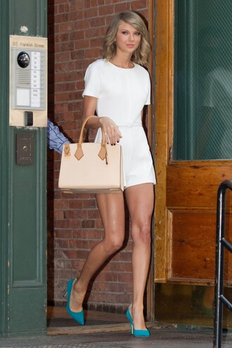 romper pumps summer taylor swift white bag shoes