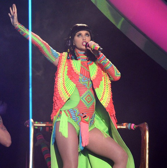 katy perry neon body suit