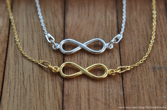 Infinity necklace / gold infinity necklace / silver 925 / infinity charm necklace, gold plated silver, gold jewelry, tiny infinity, 24 gold