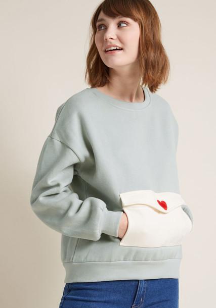 PepaLoves sweatshirt cozy grey sweater