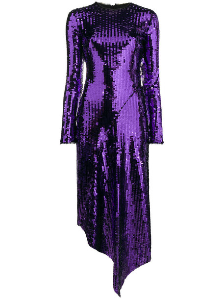 PREEN BY THORNTON BREGAZZI dress long sleeve dress long women spandex purple pink