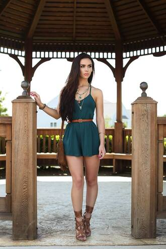 jumpsuit romper green