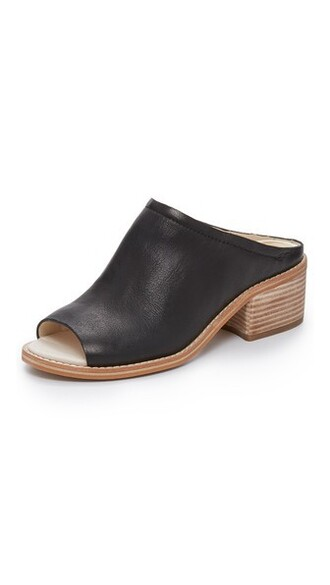 mules black shoes