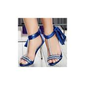 shoes,blue,navy,heels,open toes,rhinestones,high heels,stilettos