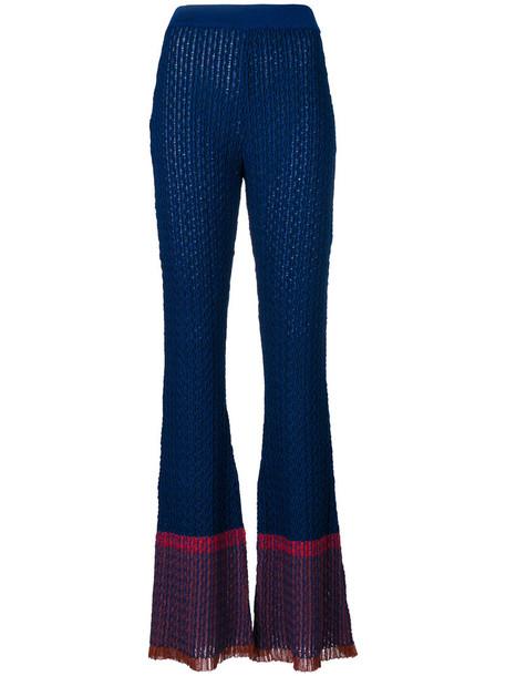 Stella McCartney women cotton blue wool pants