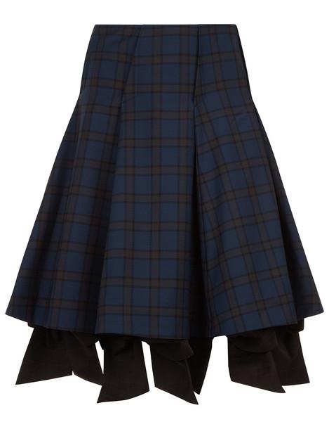 Anna K skirt bow navy tartan