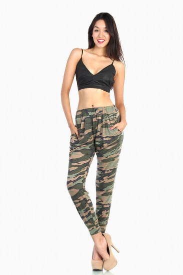 OMG Camo Army Loose Pants - Green