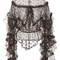 Metallic polka dot tulle ruffle blouse | moda operandi