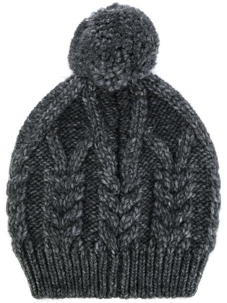 beanie knit grey hat
