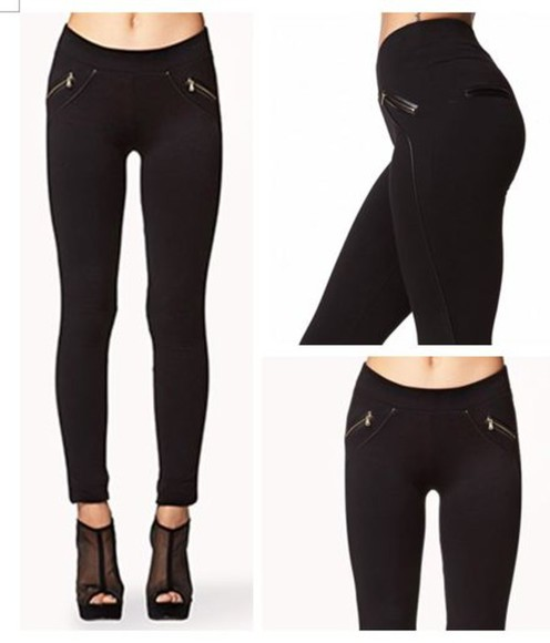 ashley olsen pants leggings forever 21 zip leggings zip black and gold lov tumblr