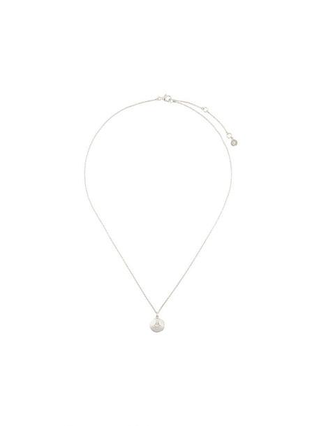 Astley Clarke women moon necklace silver grey metallic jewels