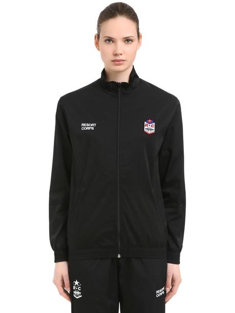 RESORT CORPS Survêtement Save Me Nylon Track Jacket in black