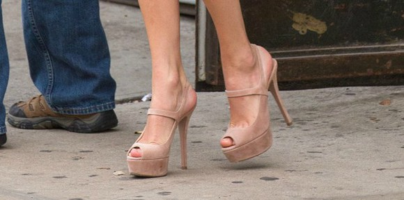 taylor swift shoes high heels nude