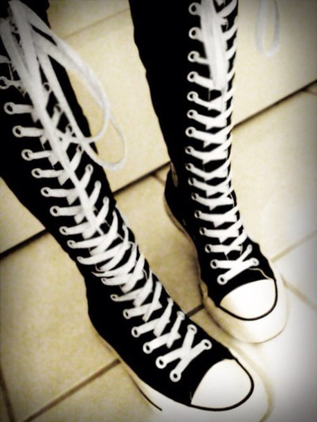 converse shoes knee high
