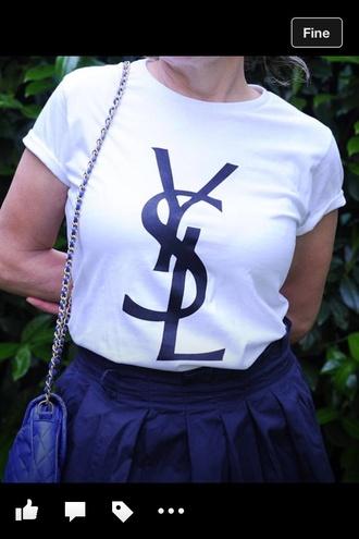 t-shirt ysl ysl shirt ysl tshirt style shirt vogue ysl tee