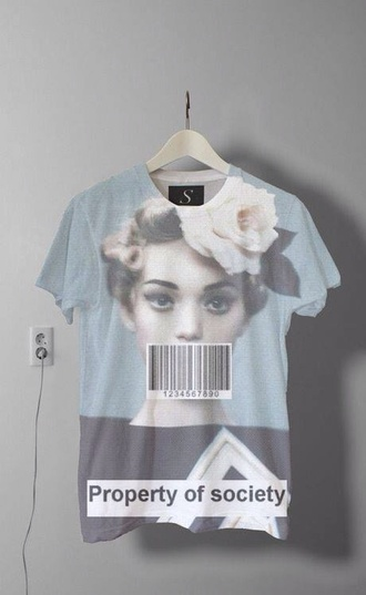 lana del rey shirt swag pale true rose floral impression14.com t-shirt grunge soft grunge beautiful blouse hippie top society property of society property hipster cool vintage floral tumblr