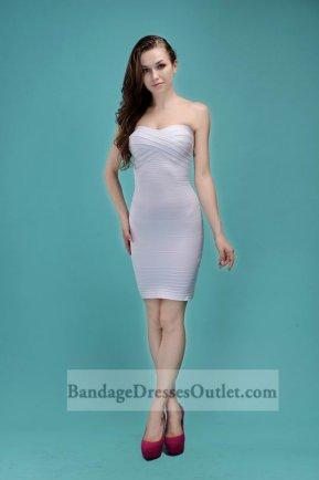 White Strapless Crisscross Bust Bandage Dress Hot Sale [White Strapless Crisscross] - $155.00 : Cheap Bandage Dresses Online, Wholesale Price Bandage Dresses Outlet