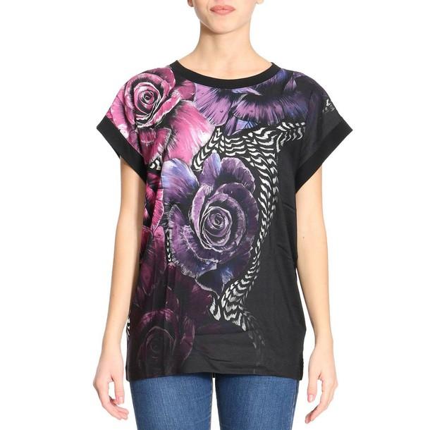just cavalli t-shirt shirt t-shirt women plum top