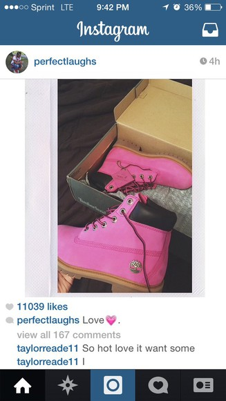 pink shoes timberlands