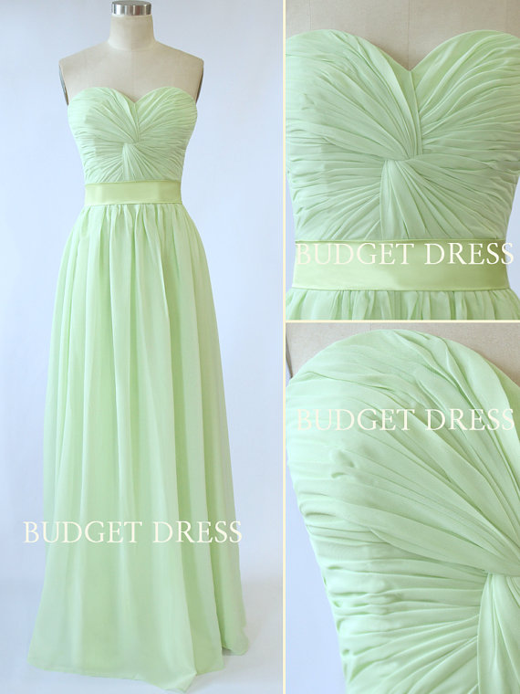 Aline Sweetheart Floor Length Chiffon Prom Dress by BudgetDress