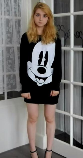 dress mickey mouse black
