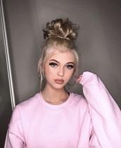 sweater,loren grey,pink,wool