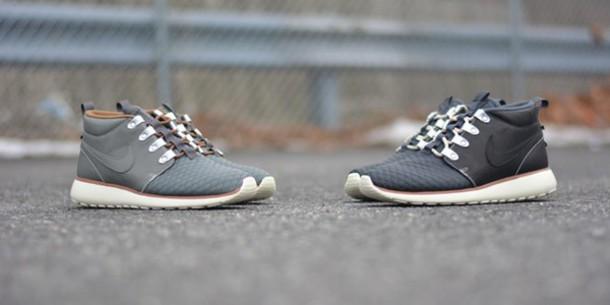 7afbed05cf87 nike roshe run sneakerboot qs collection mercury grey nike roshe runs  leather