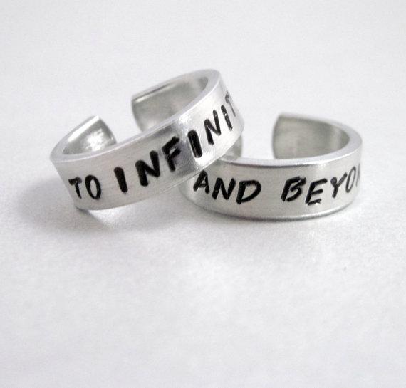Hand stamped aluminum ring