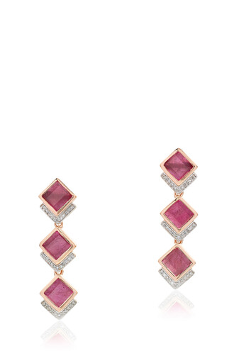 women earrings red jewels