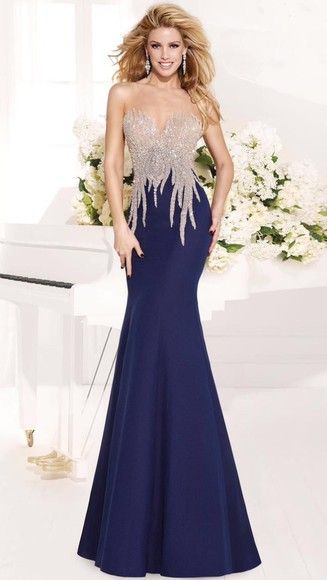 dress sweetheart dresses navy gown beaded sweetheart blue dress