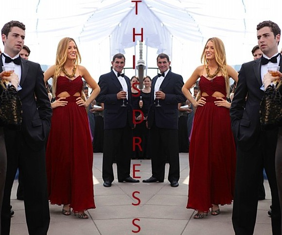 dress blake lively red dress long prom dresses gossip girl fashion team blake, gossip girl