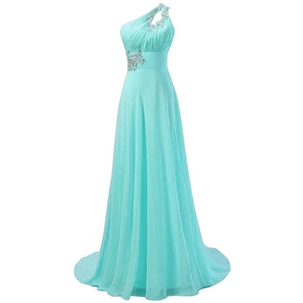 Fashion Plaza Fashipn Plaza One Shoulder Long Evening Brides... - Polyvore