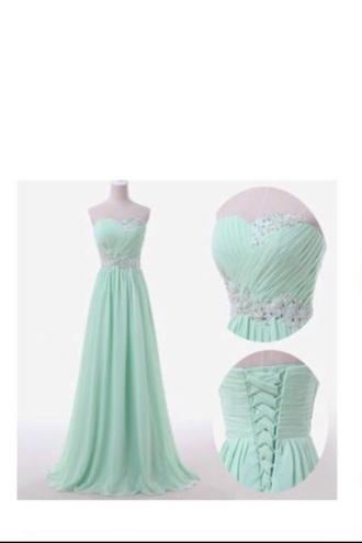 dress sky blue gown prom dress long prom dress