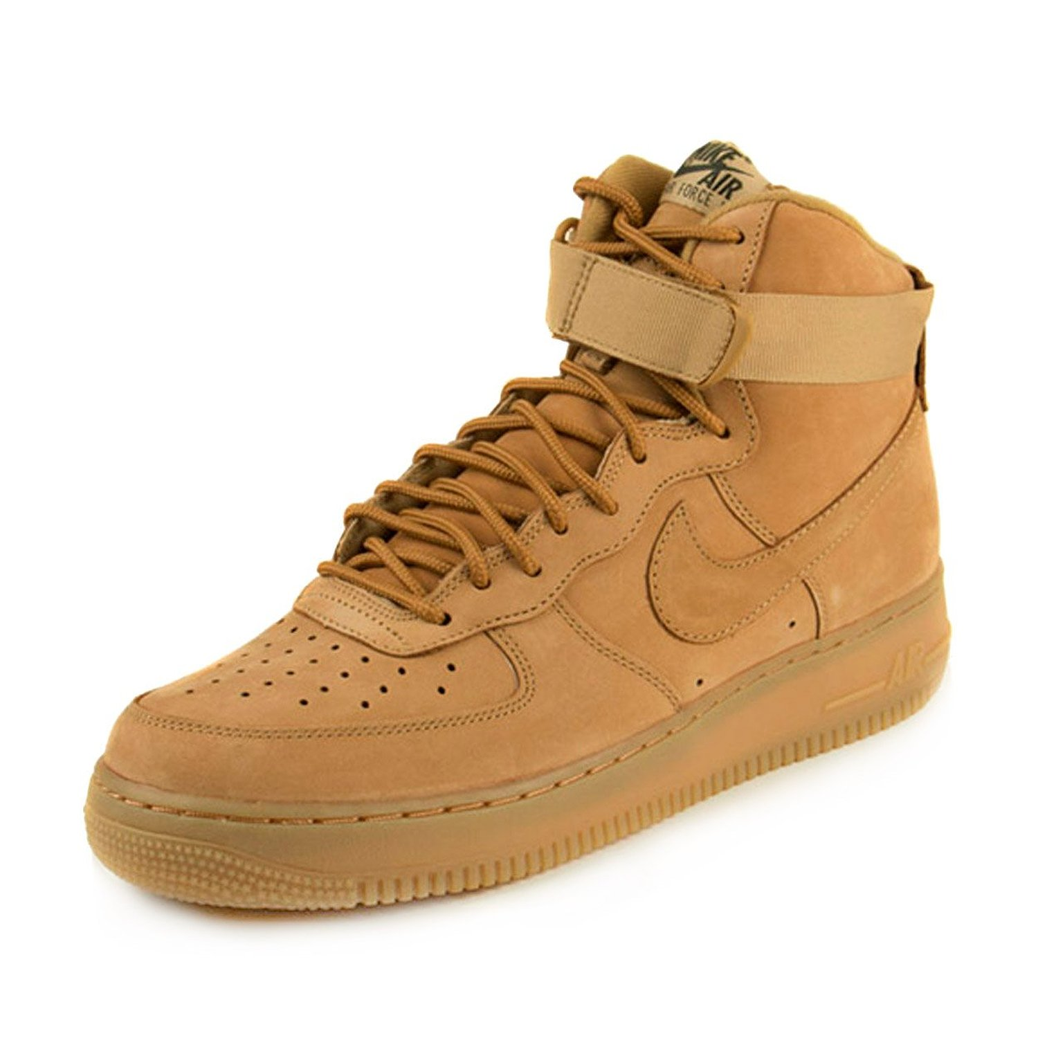87266f0baeb597 ... czech amazon nike mens air force 1 high 07 lv8 wheat flax outdoor green  leather shoes ...