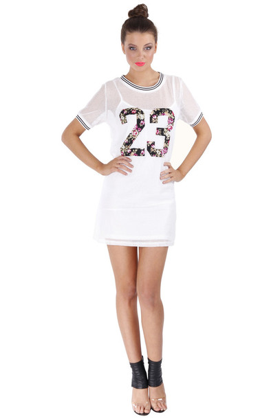 T shirt tunic dress number shirt number tee white for Is a tunic a dress or a shirt