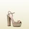 Gucci - crackled metallic leather platform sandal 338961dck009605