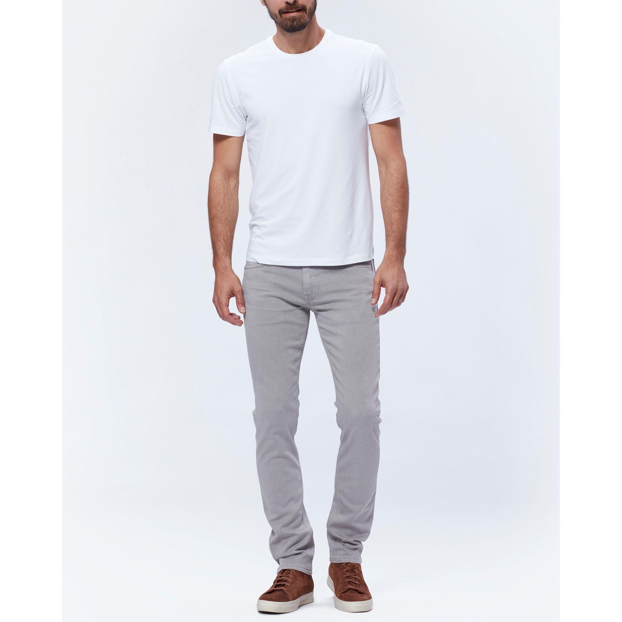 PAIGE Men's Cash Crew Neck Tee Shirt - Fresh White | Short