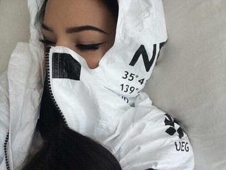 jacket girl woman white black