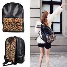 Backpack Fashion PU Leather Leopard Stud Book School Handbag Shoulder Bag Hot | eBay