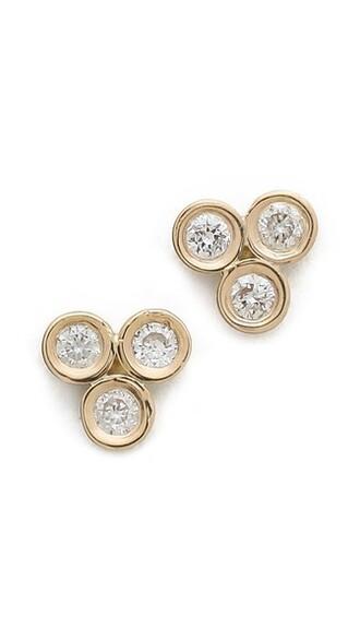 mini clear earrings stud earrings gold jewels