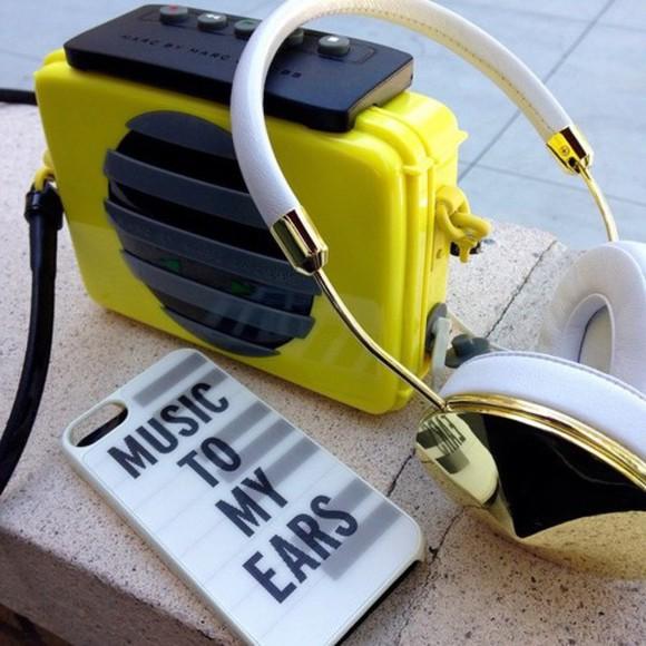technology earphones jewels headphones gold