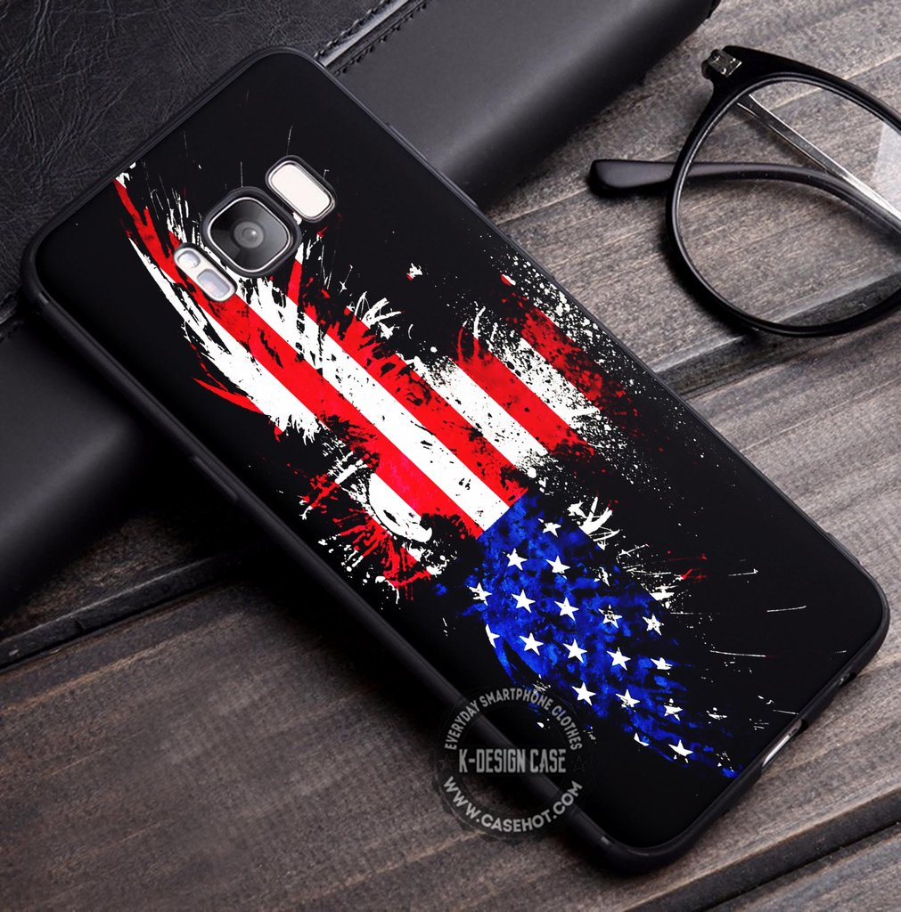 Vintage American Flag Wallpaper Iphone X 8 7 Plus 6s Cases Samsung Galaxy S8 Plus S7 Edge Note 8 Covers Iphonex Samsungs8